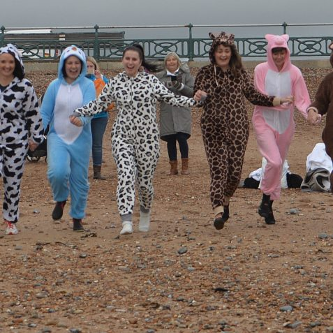 Sponsored winter dip for charity