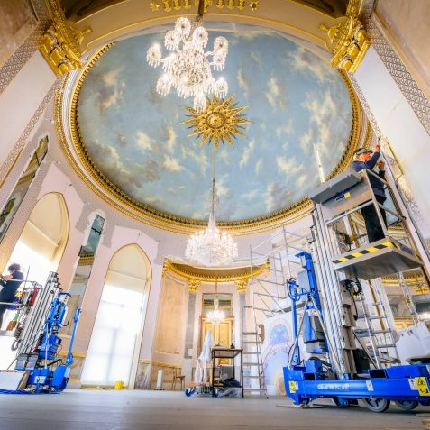 Saloon Restoration -of the hand-painted walls | Royal Pavilion and Museums Brighton and Hove