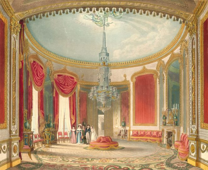Watercolour by A.C. Pugin for John Nash's book, 'Views of the Royal Pavilion'. 1826   Royal Pavilion and Museums Brighton & Hove