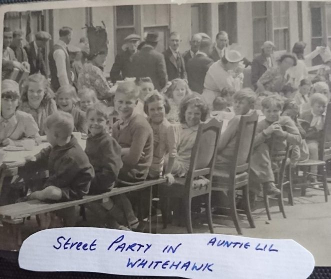 Street Party Whitehawk 1945 | From the personal collection of Sarah Martin