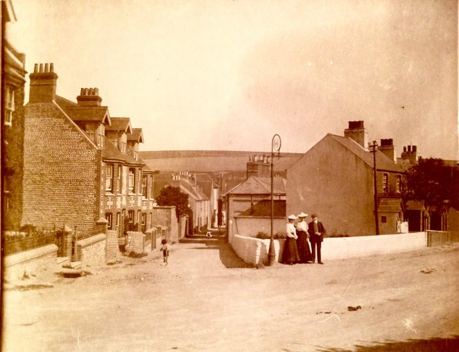 West Street, Rottingdean, in 1904 - from the private collection of Sam Flowers