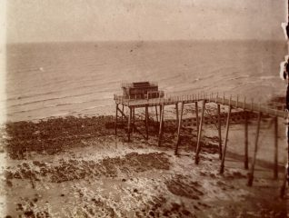 Volk's Sea-Going Car at Ovingdean Jetty, in 1904  | From the private collection of Sam Flowers