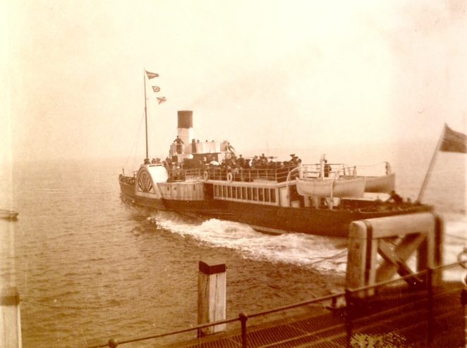 Paddle Steamer, Brighton, 1904  | From the private collection of Sam Flowers