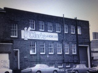 Clarks factory Newtown Road. | From the private collection of Michael Clark