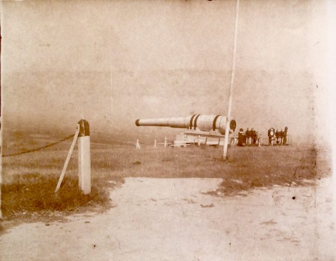 Mock 110-Ton Cannon, Devil's Dyke, 1904 | From the private collection of Sam Flowers