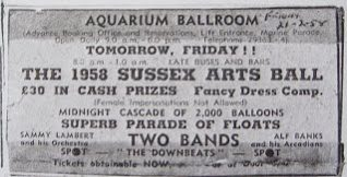 Sussex Arts Ball advertisement 1985.