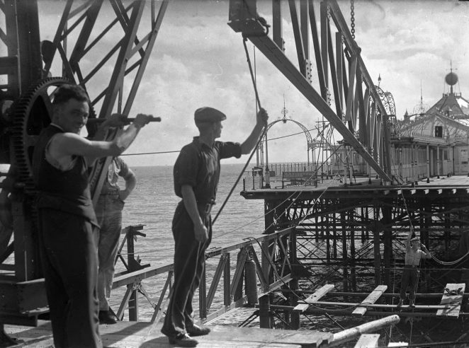 Repairs to central decking after WWII | Royal Pavilion and Museums Brighton & Hove