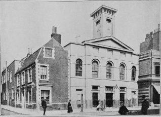 Exterior showing Duke Street houses   Holy Trinity Church