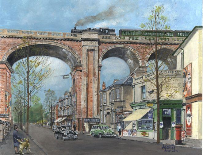 Original watercolour by Arthur Gill