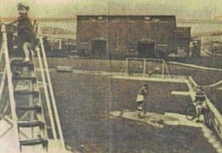 Carden Park before construction of the new factory c. 1966 (with the CVA/Kearney and Trecker 1958 No 6 factory in the background)   From the private collection of Peter Groves