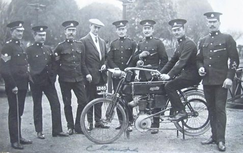 1908 Motorcycle at Preston Barracks