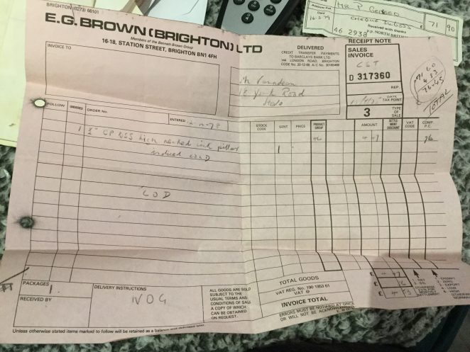 Invoice from 1978