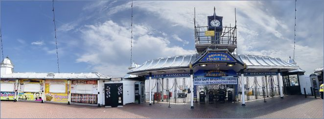 Stay home, Save lives: Entrance to Brighton Pier in lockdown | Chris Barbara ARPS. All Rights Reserved.