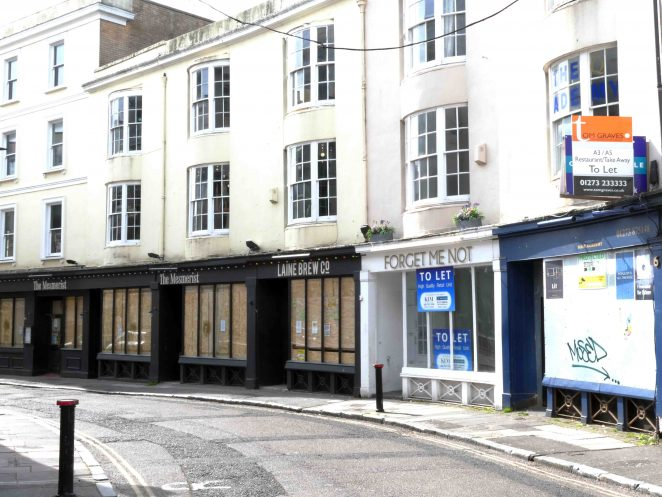 Prince Albert Street - Closed & boarded up shops | Ron Fitton