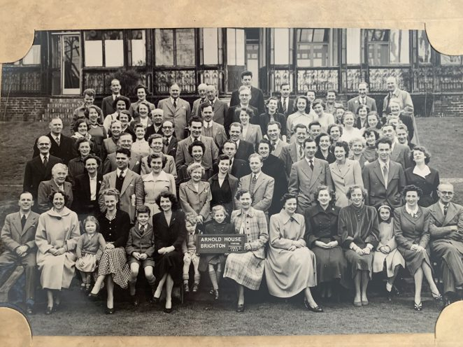 Group photo in April 1953 outside The Arnold House Hotel.