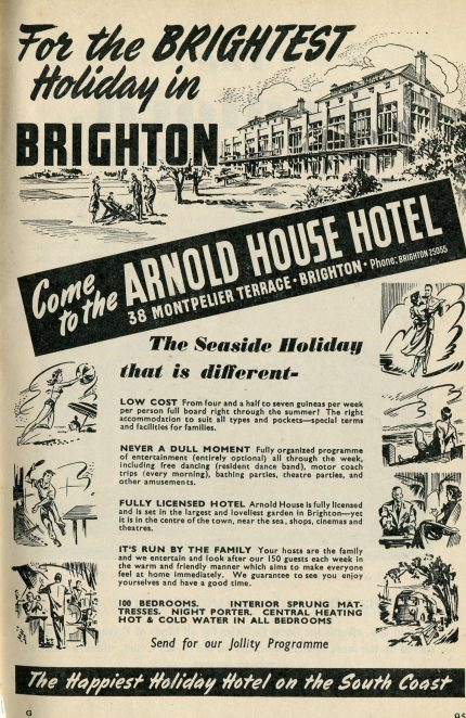 Arnold House Hotel Winter 1951
