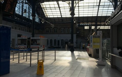 Brighton station and North Street in lockdown