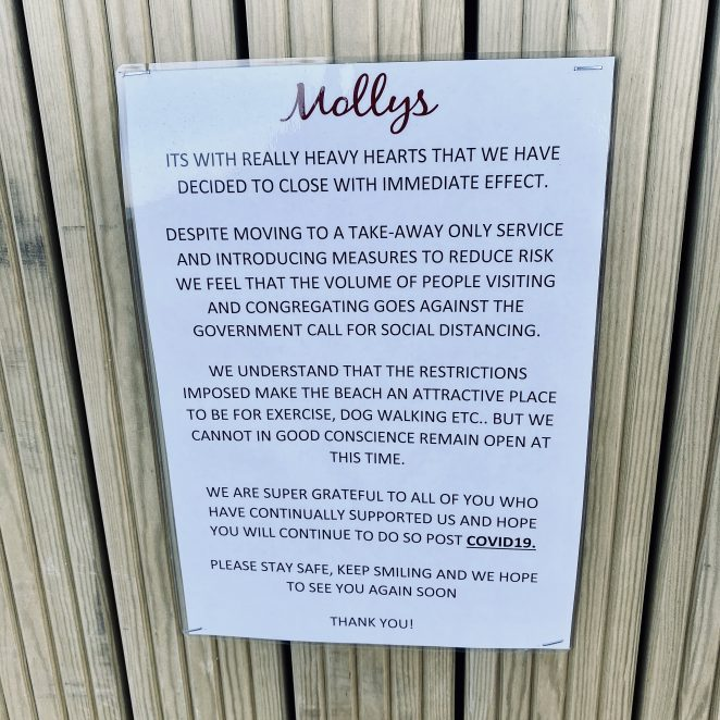 With a heavy heart - Molly's cafe closes in Rottingdean | Chris Barbara ARPS. All Rights Reserved.