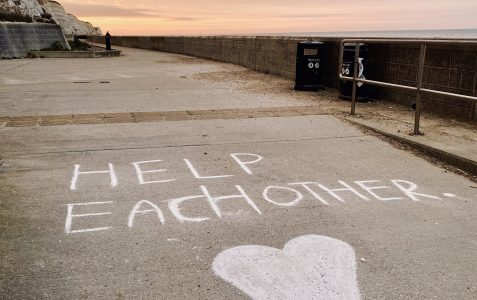 Undercliff path: Help each other...