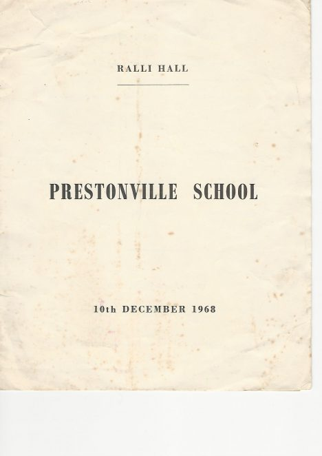 Front cover of leaflet containing cast list for a performance of Pinker's Magic at Prestonville School, Hove.