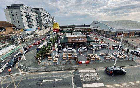 Brighton Marina: McDonalds reopens after lockdown