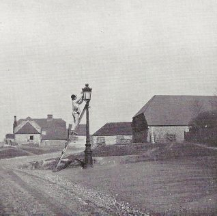 Lamplighter, top of Church Hill, Patcham circa 1901 | The Lady's Realm