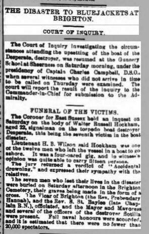 Brighton Disaster 10th April 1900