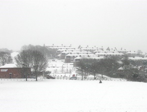 Hollingbury in the snow | © Copyright Simon Carey and licensed for reuse under this Creative Commons Licence