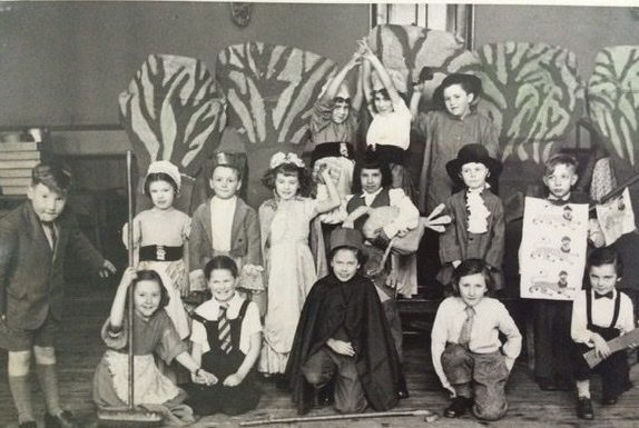 School play - year unknown | From the private collection of Pamela Coffin nee Probert