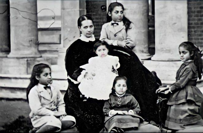 Princess Sophia Duleep Singh and her family