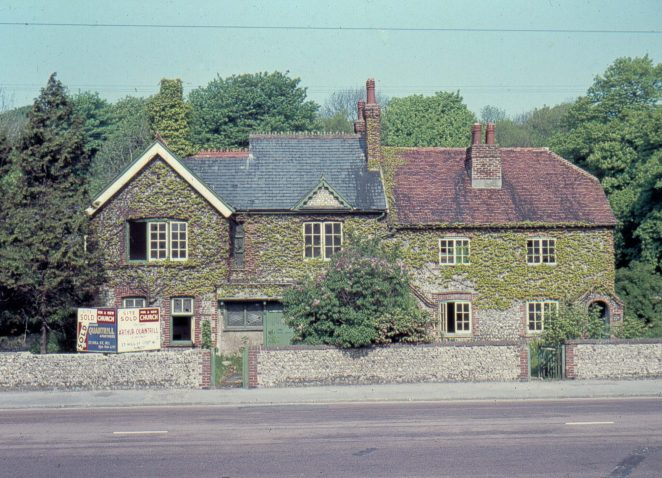 Withdean Farmhouse and adjacent cottages shortly before their demolition in the mid-sixties. It was home to my grandparents for some years. | ©John Catchpole
