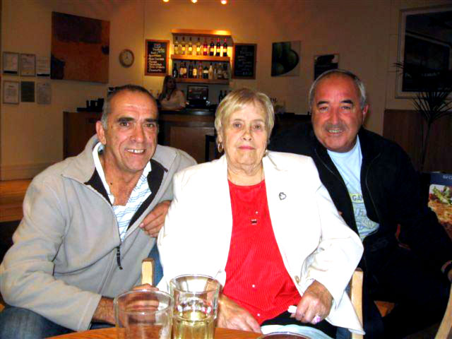 Trevor with his mother and brother Jan