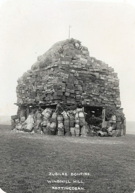 Jubilee bonfire 1935 | Royal Pavilion and Museums