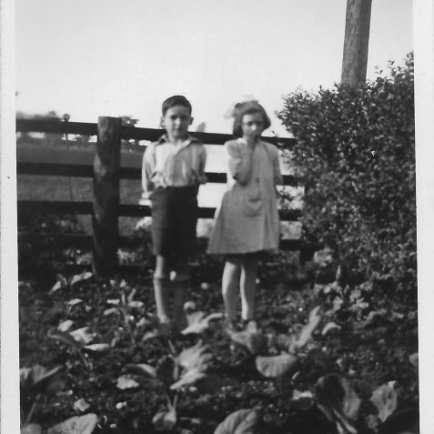 Garden of 125 Ingram Cresent Hove, Marguerite (Peggy) and Leslie Phillips (ca 1930). | Private collection of Alan Phillips
