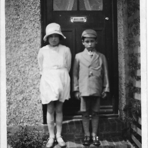 Marguerite (Peggy) and Leslie Phillips (ca 1930) outside of 125 Ingram Crescent, Hove. | Private collection of Alan Phillips