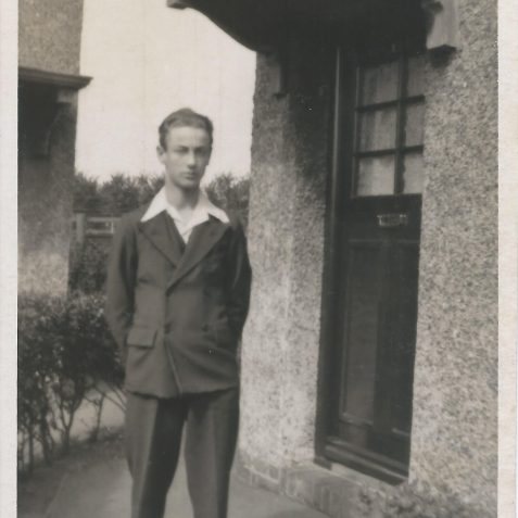 Jack Lynn outside number 135 Ingram Crescent, Hove. | Private collection of Alan Phillips