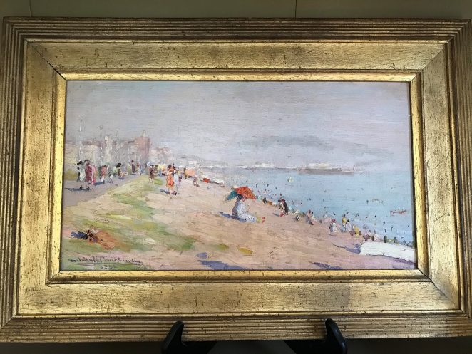 Painting of Brighton beach from Hove - who is the artist?