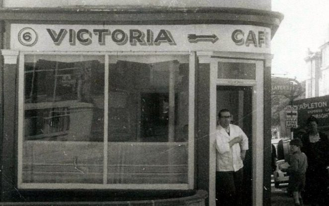 1965 25th May My Dad Phil. Prior to the Cafe in Victoria Road they both ran a Cafe in Gloucester Road