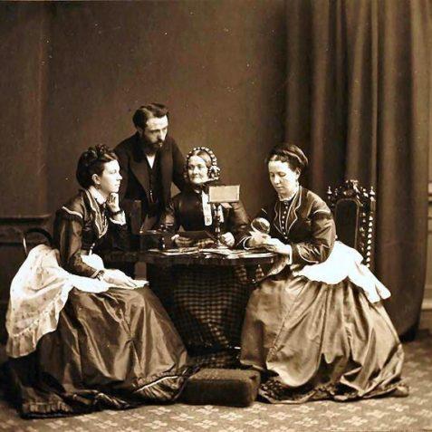 Family portrait - Elizabeth & Albert Boucher, Mary Dando & Susan Marner   Brighton and Hove Museum