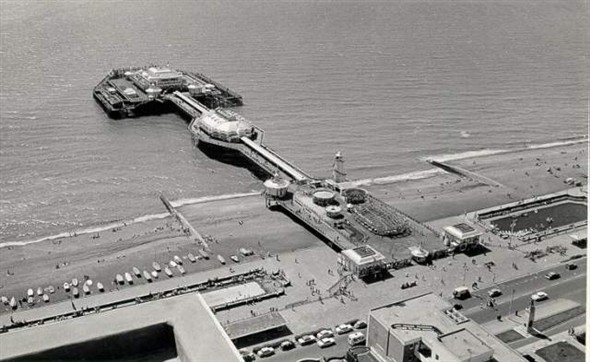 West Pier and beaches 1966   Royal Pavilion and Museums Brighton and Hove