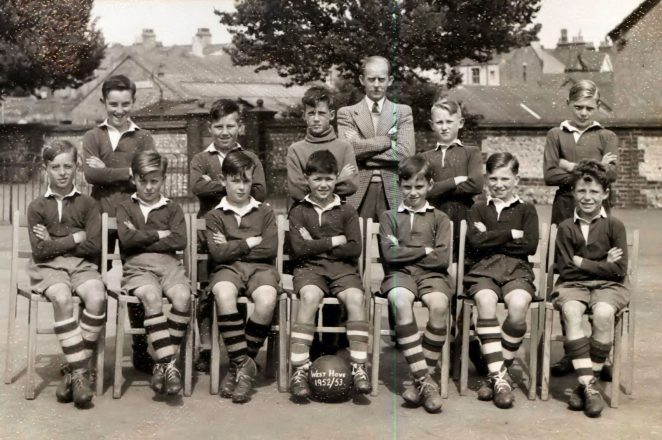 1952/53 school football team | From the private collection of Geoff Stoner