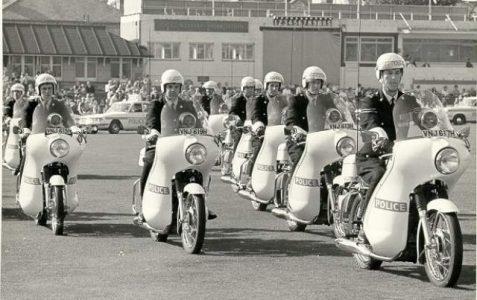 Police transport motorcade