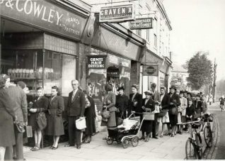 Photo: Often people would join a queue not even knowing what it was for!   Image reproduced with permission from Brighton History Centre