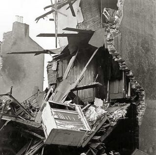 Bomb damaged house | From a private collection