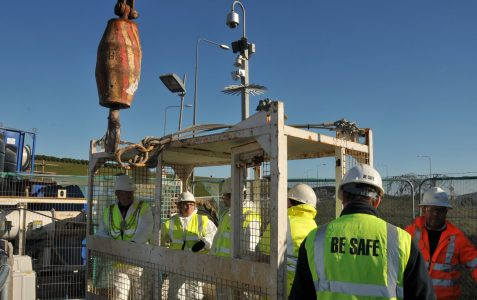Mayoral visit to Southern Water Ovingdean site