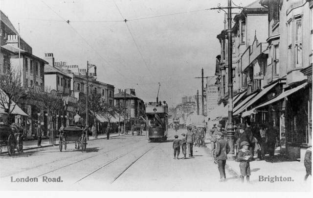 London Road Looking North, c. 1910 | Image reproduced with kind permission from Brighton and Hove in Pictures by Brighton and Hove City Council
