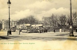 Old Steine, now the A23, in 1905 | Fro the private collection of Tony Drury
