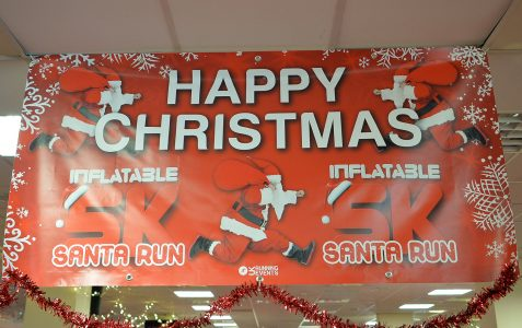 Crazy Inflatable Santa Run