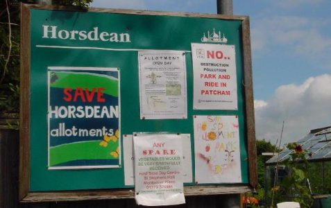 Horsdean allotment site