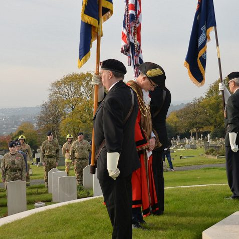 Bear Road Cemetery war graves ceremony:©Tony Mould